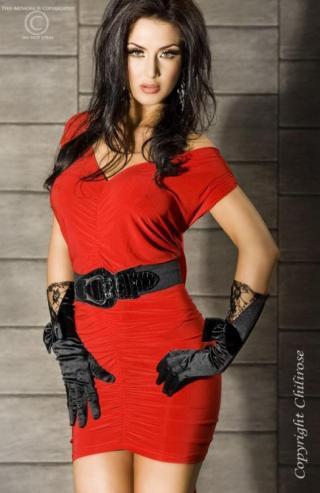 CR-3164 red šaty - Sexy-pradlo.sk