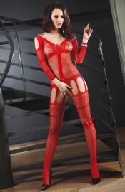 LivCo Corsetti Fashion - Corra red bodystocking