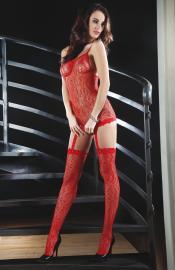 LivCo Corsetti Fashion - Catriona red bodystocking
