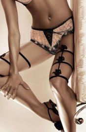 Roza - Afrodyta black nohavičky