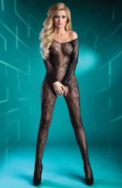 LivCo Corsetti Fashion - Abra black XXL bodystocking